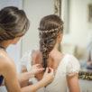 Peinados con trenzas para una novia romántica