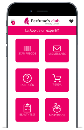 Download gratis de app van Perfume´s Club