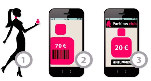 Lade Dir gratis die App. von Parfüms Club herunter